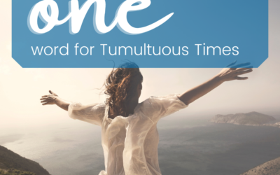 ONE word for Tumultuous Times